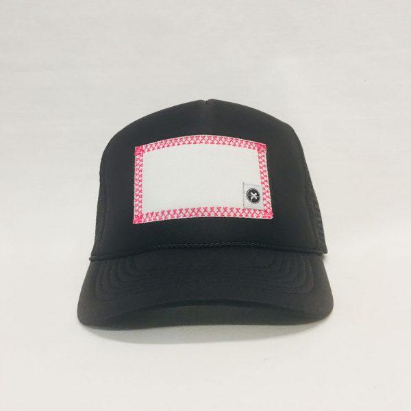 Scratch-A-Patch Black Hat Pink Trim