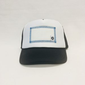 Scratch-A-Patch Black and White Hat Blue Trim